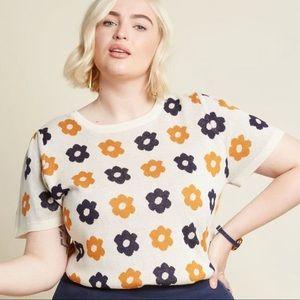 What I Call Fun Intarsia Sweater - Retro Bloom